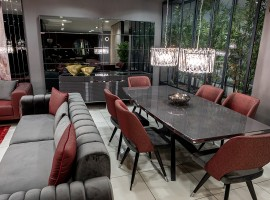 Maroon Yemek Odası